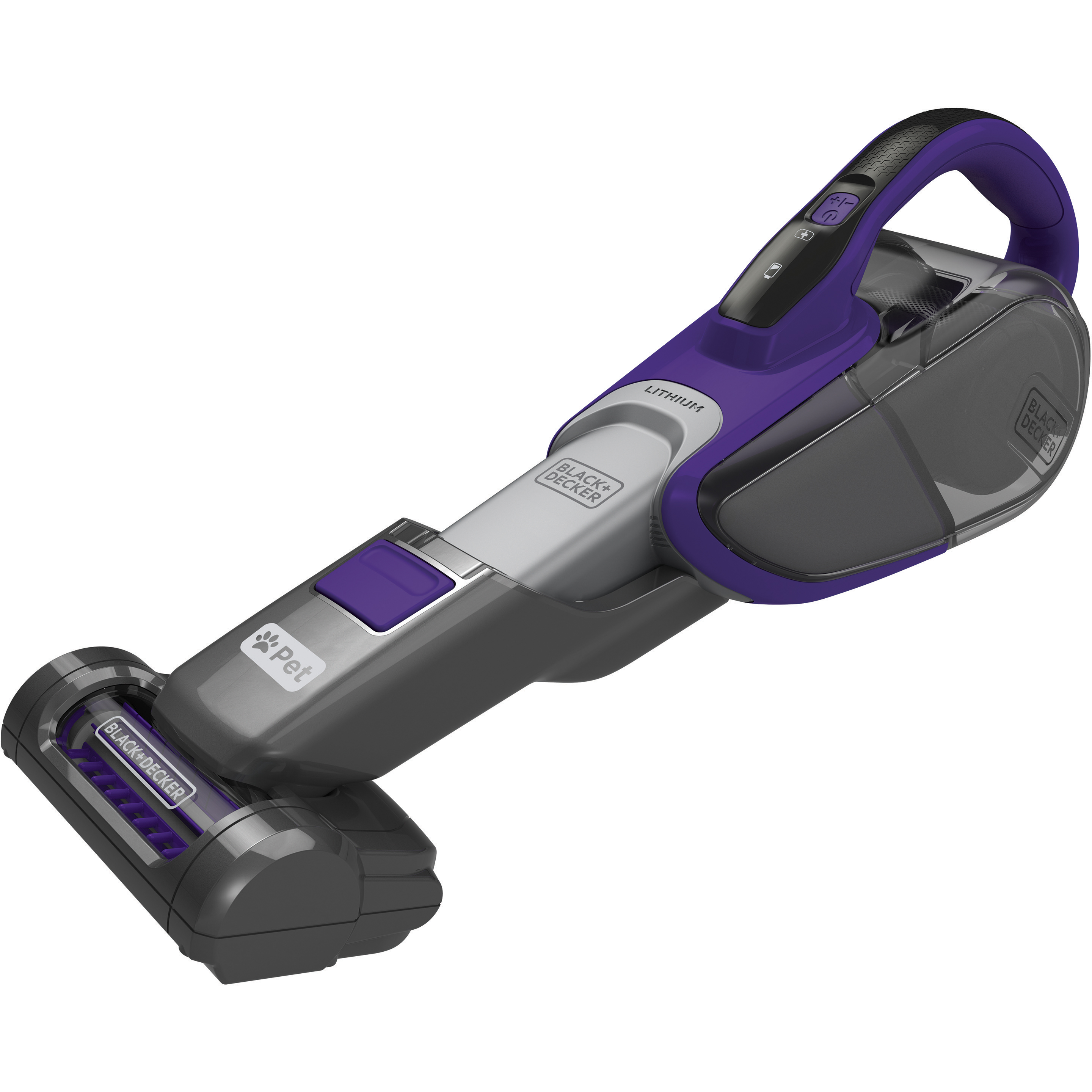 BLACK+DECKER™ HHVJ315JDP27 Dustbuster® Lithium Hand Vacuum Pet, Purple