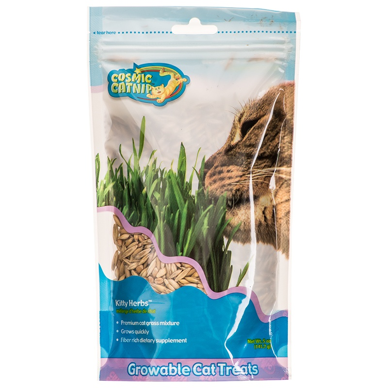 Cosmic Catnip Kitty Herbs Cat Grass Seeds 5 oz Bag by COSMIC CAT CORPORATION