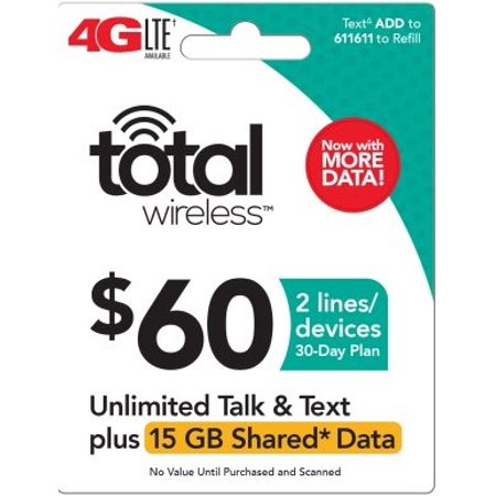 Total Wireless $60 Shared* Family Plan (Email