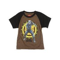 Marvel Black Panther Little Boys' Toddler Raglan Tee