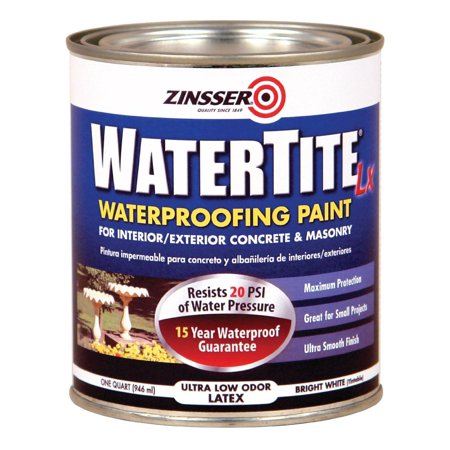 Zinsser 271098 Watertite Waterproofing Paint Water Base, 1 Quart, White