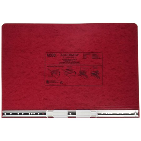 ACCO Pressboard Hanging Data Binder, Unburst Sheets, 14.875 x 8.5 Inches, Executive Red (54049), Top and bottom loading binder expandable for various sized.., By ACCO Brands