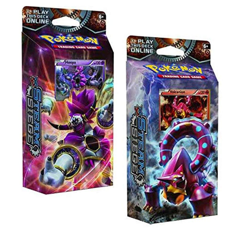 Pokemon XY Steam Siege 60 card Theme Decks Both Gears Of Fire & Ring of Lightning