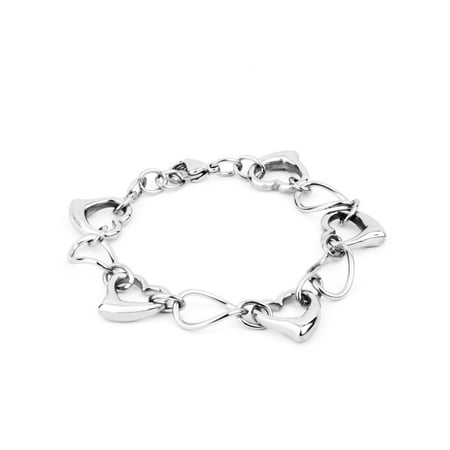 Stainless Steel Bracelet With Oval Polished Links And