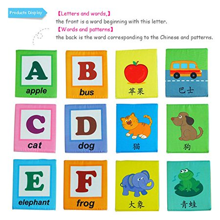 LALABABY 26 Letters Cloth Card with Cloth bag Early Education Toy for Over 0 Years - image 3 de 4