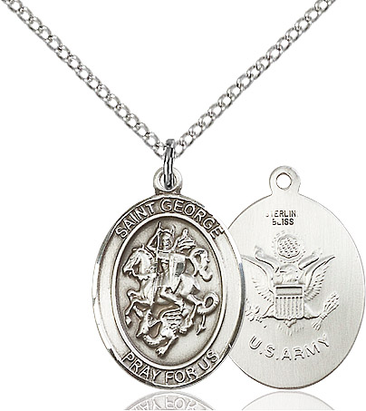 Bonyak Jewelry 18 Inch Rhodium Plated Necklace w// 6mm Green May Birth Month Stone Beads and Saint Margaret Mary Alacoque Charm
