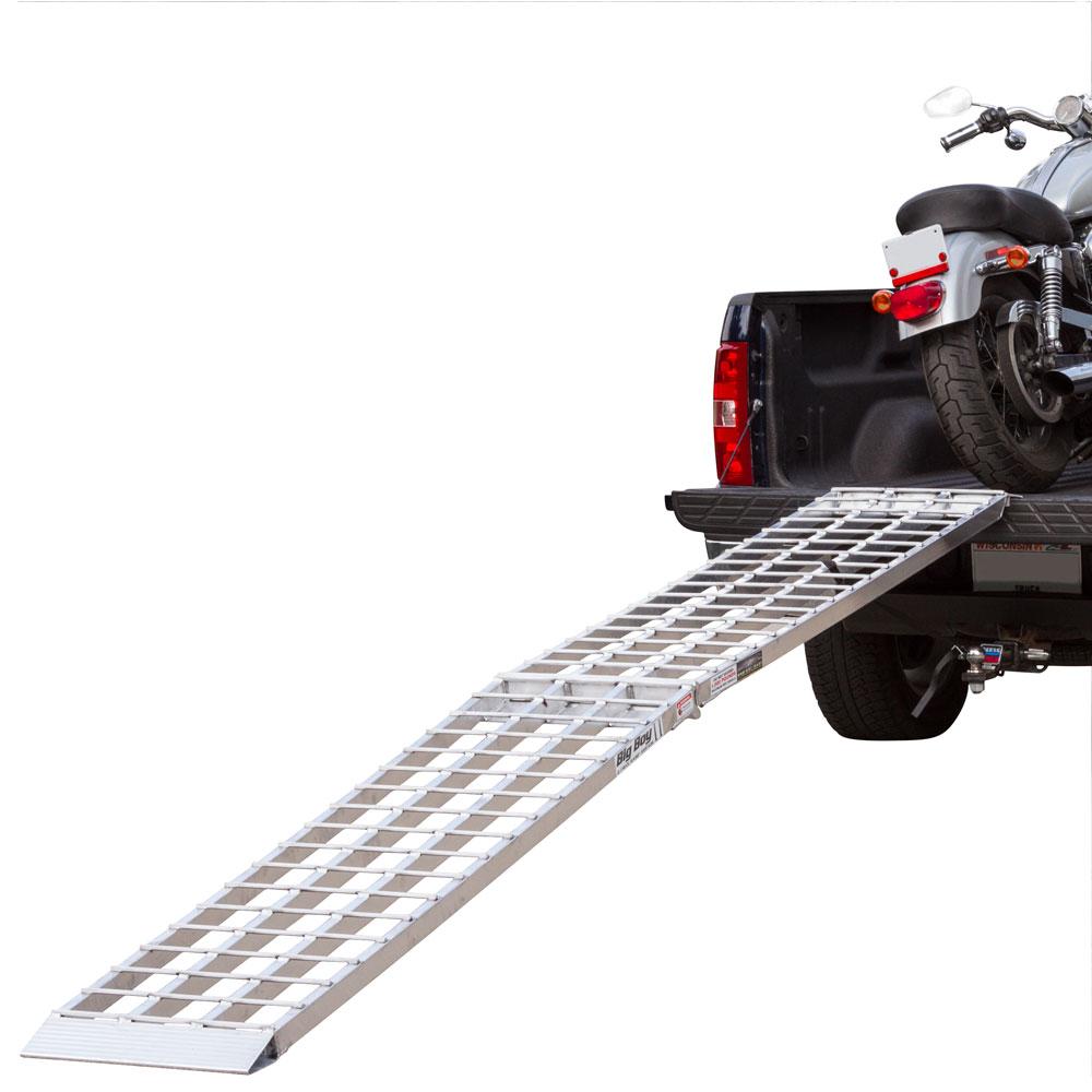 "108"" Big Boy 1-Piece Design Single Runner Folding Aluminum Motorcycle Ramp"