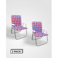 Outdoor Spectator (2-Pack) Classic Aluminum Webbed Folding Lawn / Camp Chair