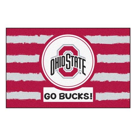 NCAA Ohio State University Buckeyes Starter Mat Rectangular Area Rug