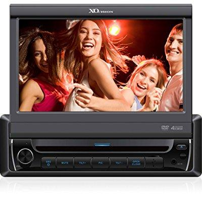 xo vision x341bt 7-inch in-dash touch screen dvd receiver with built-in bluetooth