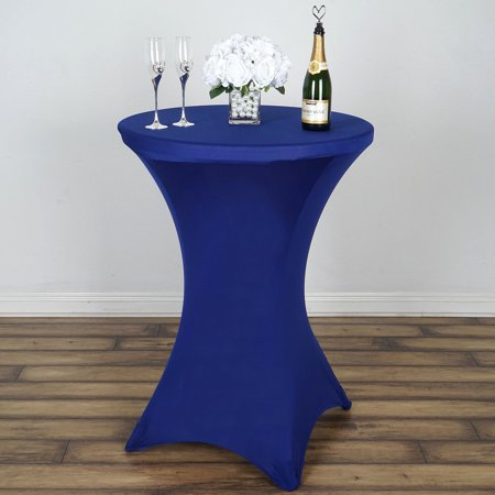 Efavormart Cocktail Spandex Table Cover for Kitchen Dining Catering Wedding Birthday Party Decorations Events