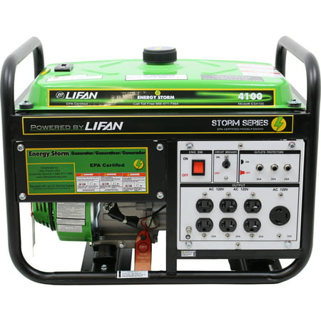 Lifan Energy Storm 4100, 211cc 7hp, 4-Stroke Industrial Grade, Recoil Start, OHV Gasoline Powered Portable Generator ()