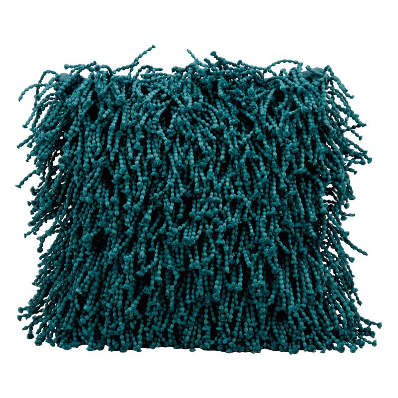 Nourison Skinny Fugga Shag Teal Throw Pillow