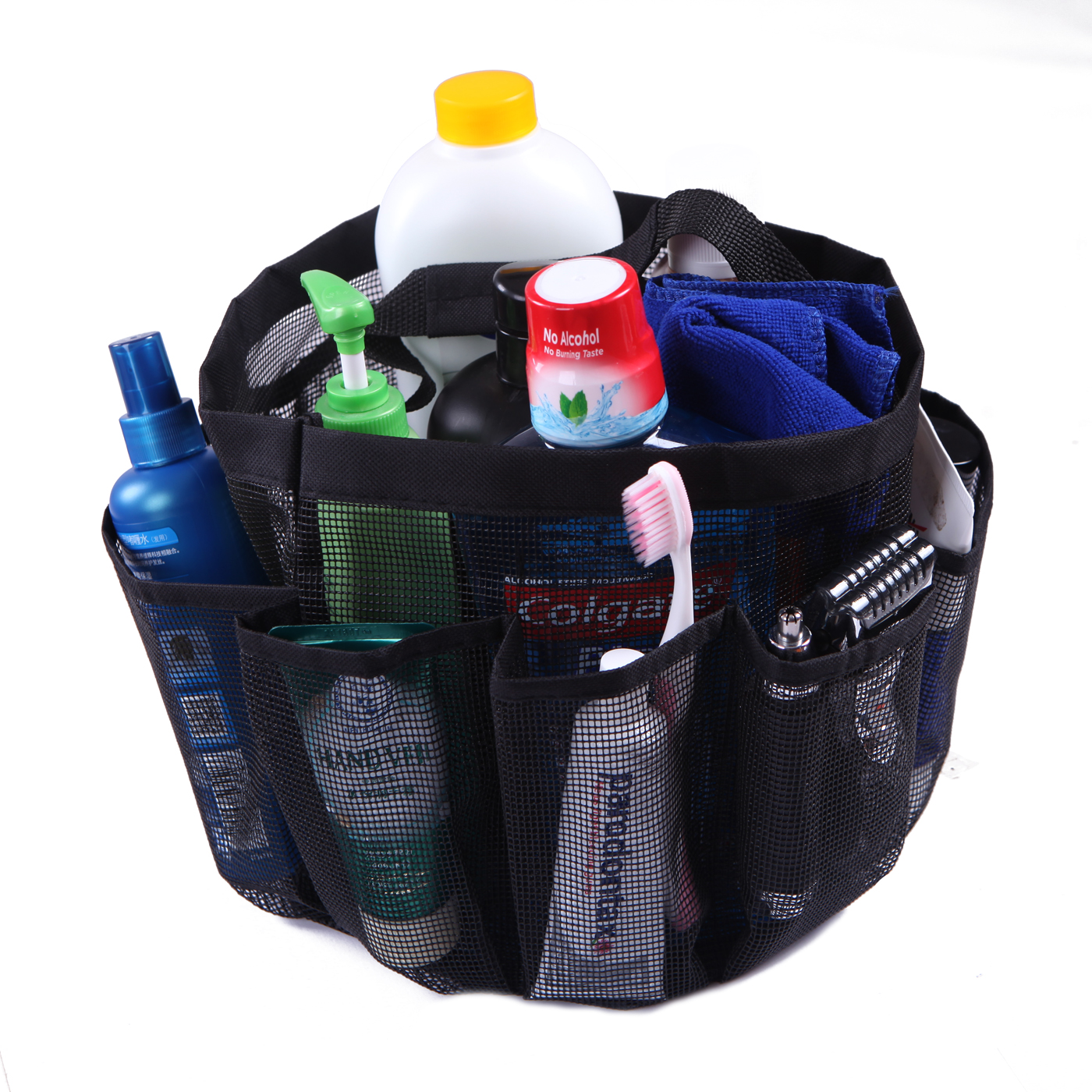 HDE Packable Mesh Shower Bag Caddy [Quick Dry] Bathroom Carry Tote ...
