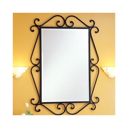 St Thomas Creations Granada  Rectangular Scroll Beveled Mirror