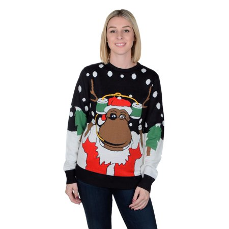 RWB RUDE-DOLF Ugly Christmas Sweater SLIM FIT - Ugly Sweater Prizes
