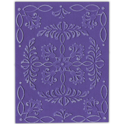 Sizzix Textured Impressions Embossing Folders, 4-Pack, Ornate Flowers & Frame Multi-Colored