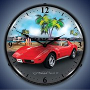 1973 Corvette Lighted Clock