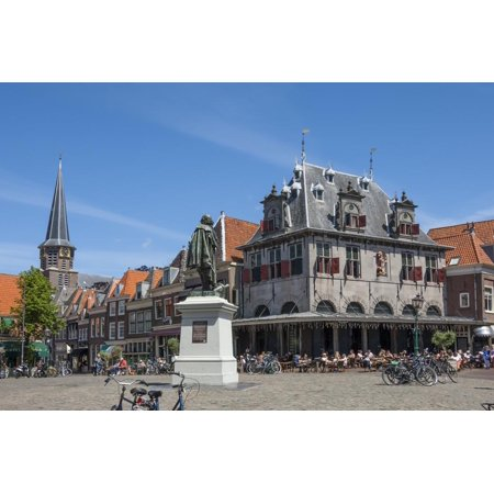 Town Square with Statue of Jan Pieterszoon Coen, Dutch East India Company, Hoorn, Holland, Europe Print Wall Art By James (Town East Square)