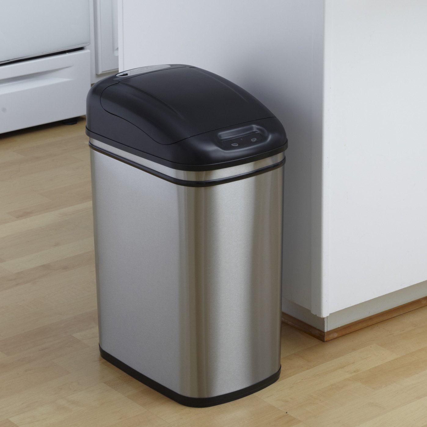 Nine Stars DZT-30-1 Touchless Stainless Steel 7.9 Gallon Trash Can -  Walmart.com