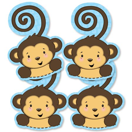 Monkey Boy - Monkey Decorations DIY Baby Shower or Birthday Party Essentials - Set of 20 - Toddler Boy Birthday Party
