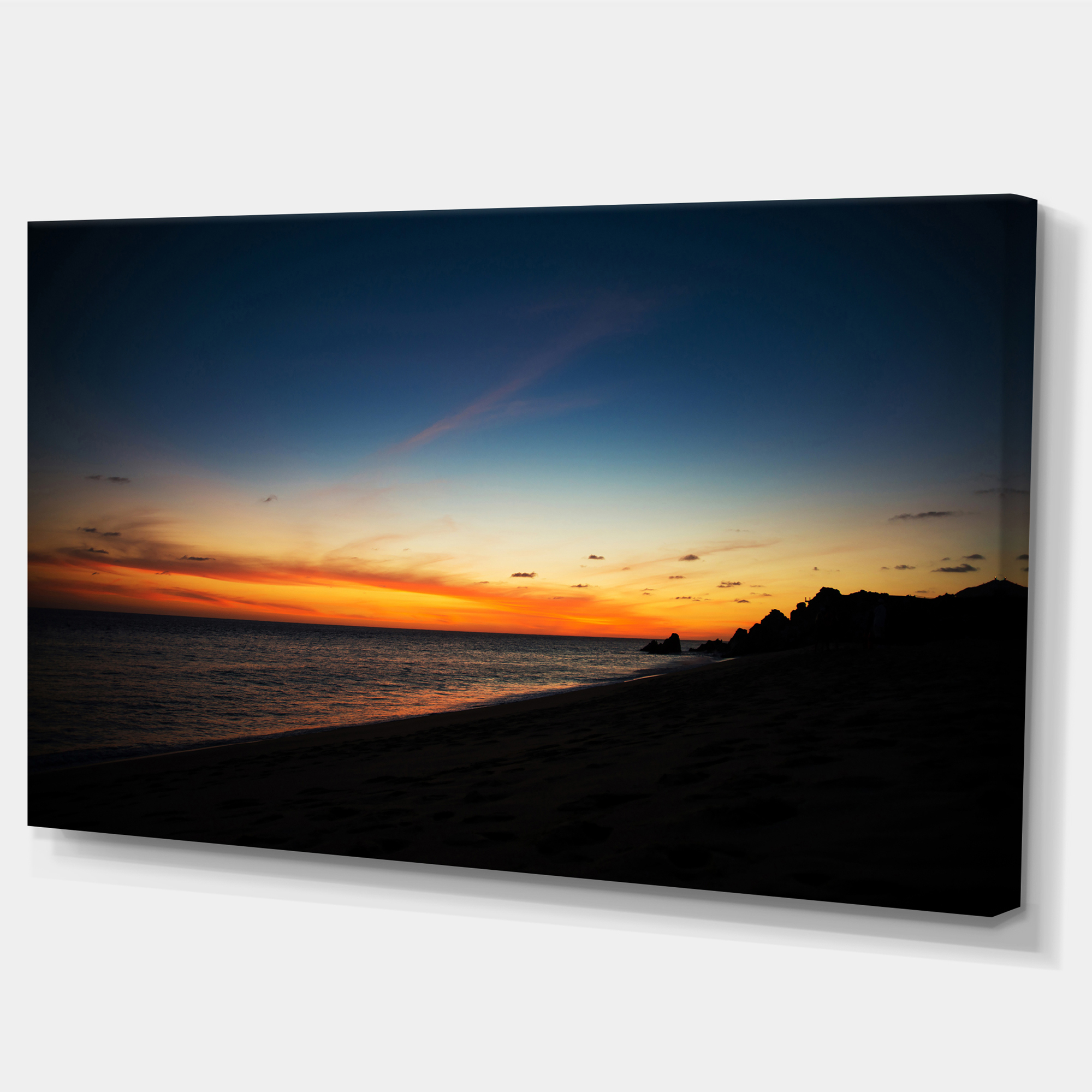 Sunset Over Beach in Cabo St.Lucas - Landscape Canvas Art Print - image 2 of 4