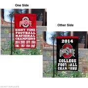"Ohio State Buckeyes 8 Time Football Champions 13"" x 18"" College Garden Flag"