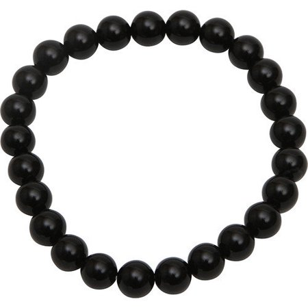 Bret Roberts 290-BASB 8mm Black Agate Stretch Brace Pack of 1