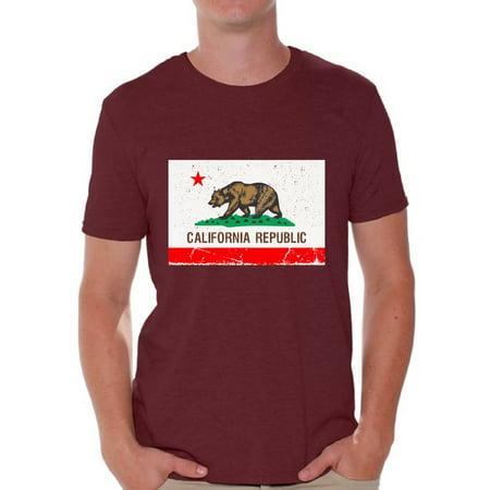 Awkward Styles California Republic Flag Tshirt California Flag Shirt California Shirts for Men California Bear T Shirt Cali Tshirts Gifts from California Cali Gifts for Him - Mens California Bears