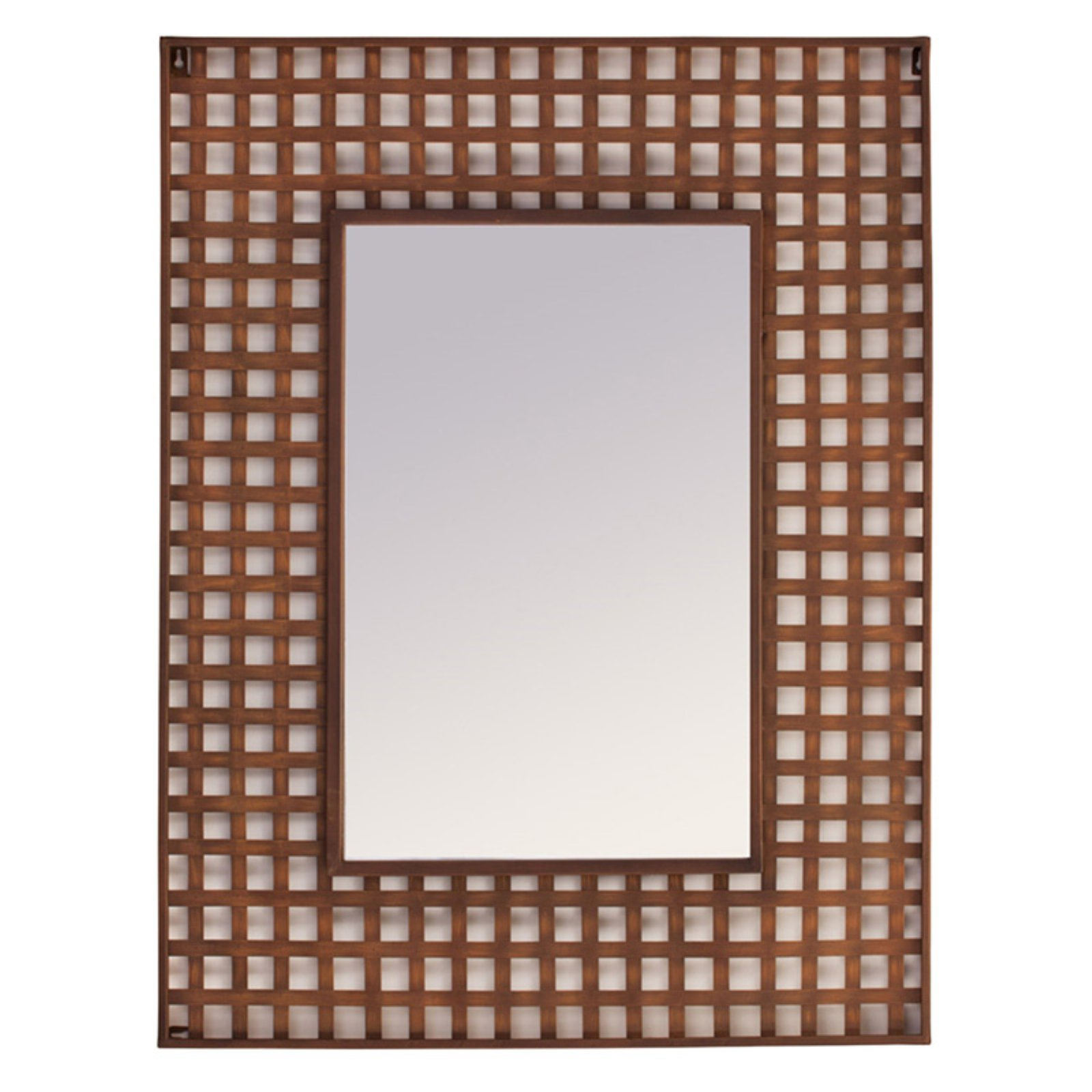 Melrose International Industrial Gingham Wall Mirror