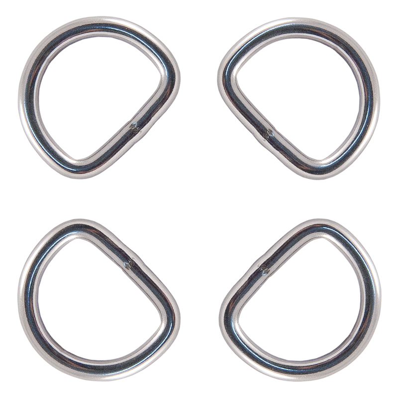 Country Brook Design® 1 Inch Stainless Steel Welded D-Rings