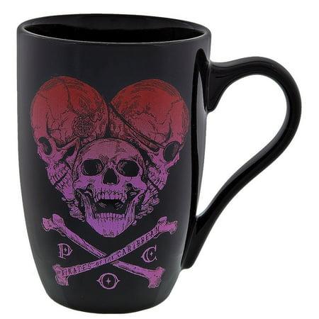 Disney Parks Pirates of the Caribbean Skulls Ceramic Coffee Mug New