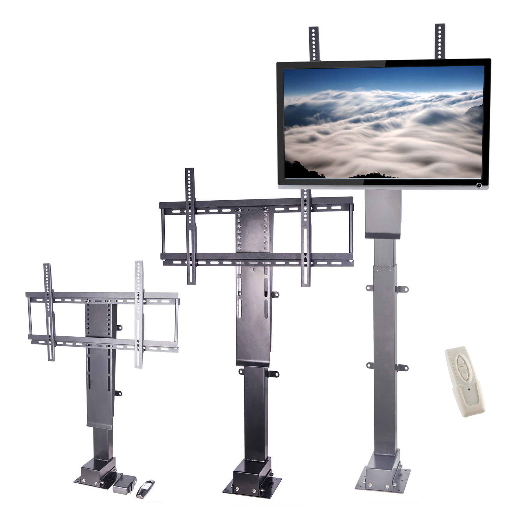 Pinty Motorized Tv Lift Stand With Remote Control For Big Panel 30 60