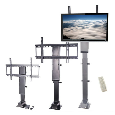 Pinty Motorized Tv Lift Stand With Remote Control For Big