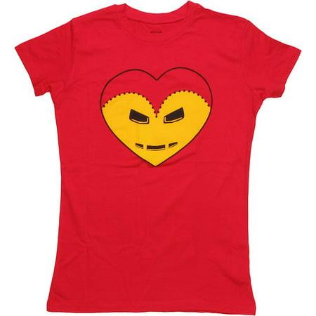 Iron Man Heart Baby Tee - Iron Man Toddler Shirt