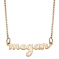 """Personalized Women's Silvertone or Goldtone Script Lowercase Nameplate Necklace, 18"""""""