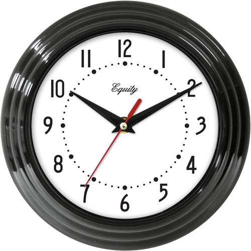 "La Crosse Technology Equity 8"" Black Wall Clock"