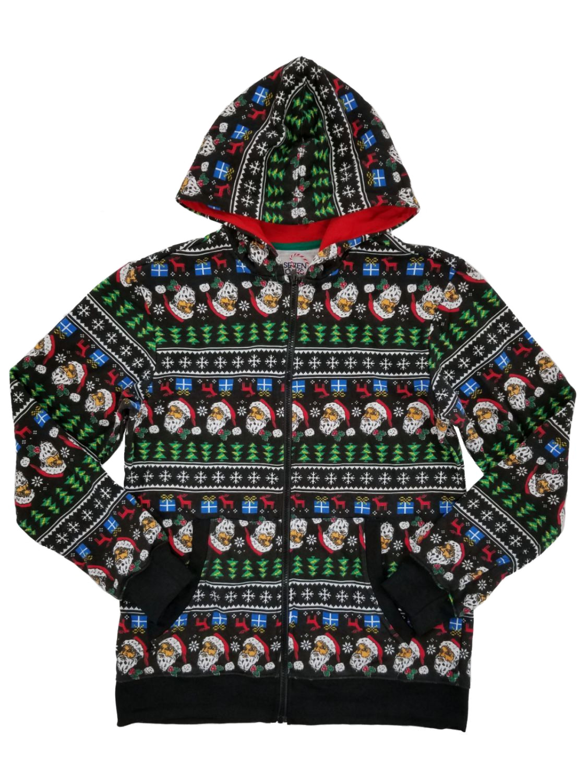Mens Pullover Hood Santa Reindeer Merry Christmas Best Wishes Zip Hoodies Hooded Cool Jackets Coats