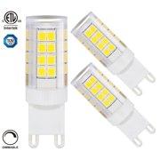 3 Pack 3.5W Dimmable G9 Base LED Bulb, LED Light Bulbs, 5000K Daylight
