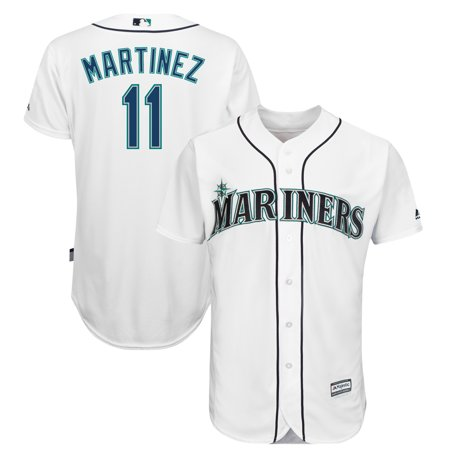 Men's Majestic Edgar Martinez White Seattle Mariners Official Cool Base Player Jersey Majestic Mens Cool Base