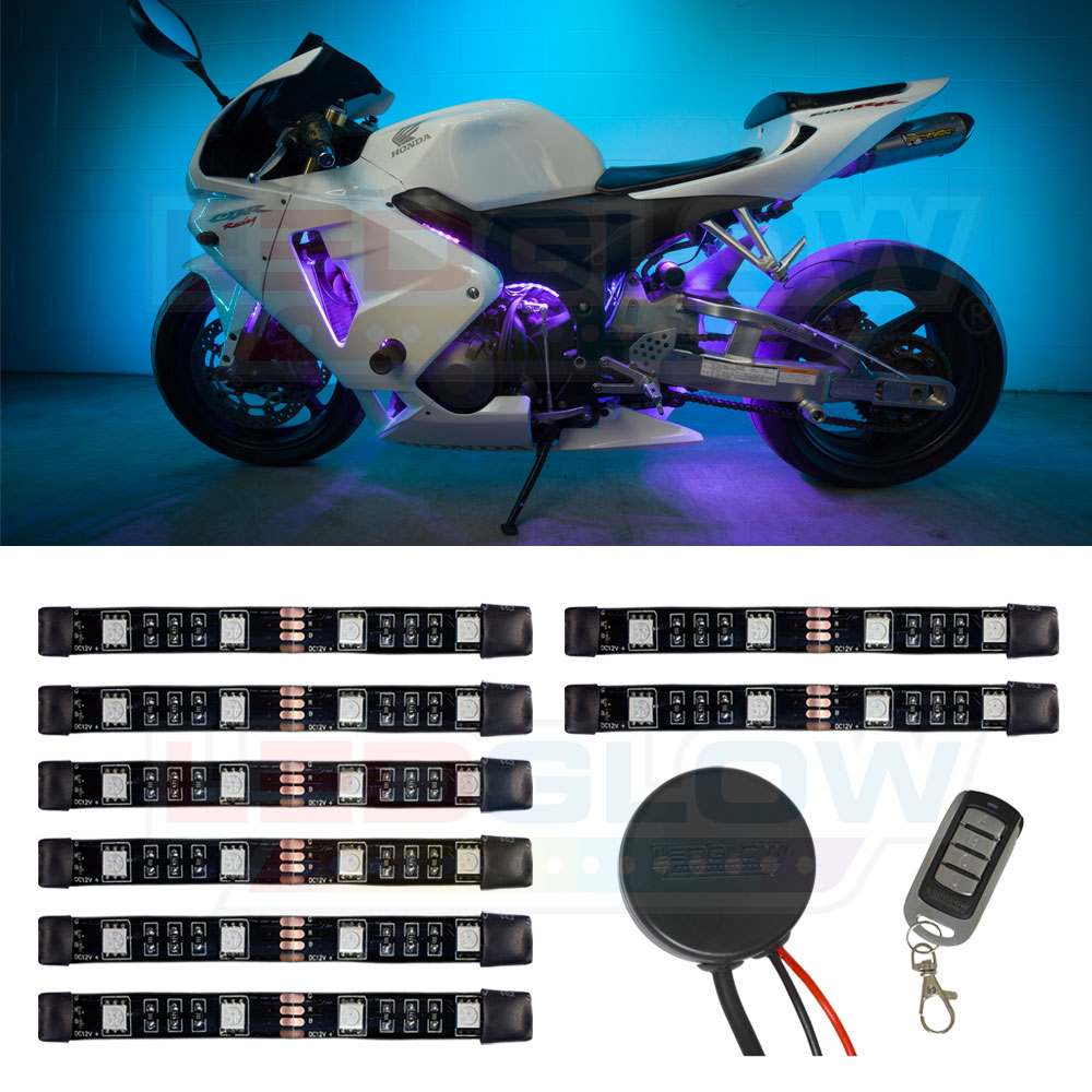 LEDGlow 8pc Advanced Million Color Mini SMD Motorcycle Li...