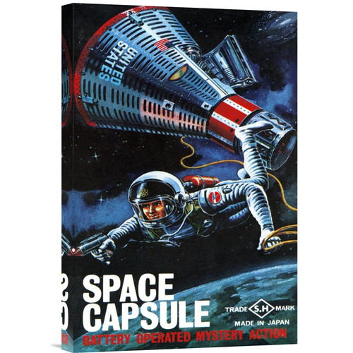 Global Gallery 'Space Capsule' by Retrorocket Vintage Advertisement on Wrapped Canvas
