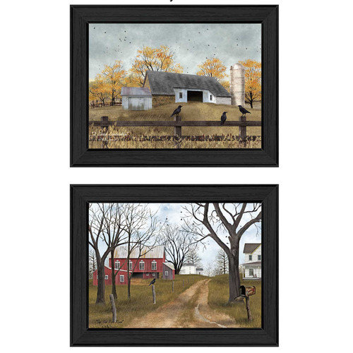 Trendy Decor 4U 'Country Roads' by Billy Jacobs 2 Piece Framed Painting Print Set