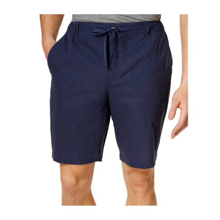 Tasso Elba Mens Chambray Casual Walking Shorts indigo S - image 2 de 2