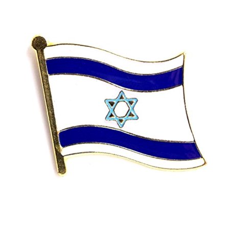 Wholesale Lot Of 12 Israel Flag Support Israel Lapel Hat Pin PPM6053