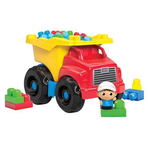 Mega Bloks First Builders Dump Truck 20 Blocks Kids Building Play Set | CXN67