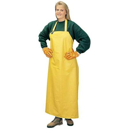 DuraWear® Yellow PVC/Polyester Apron, 14 mil, 35