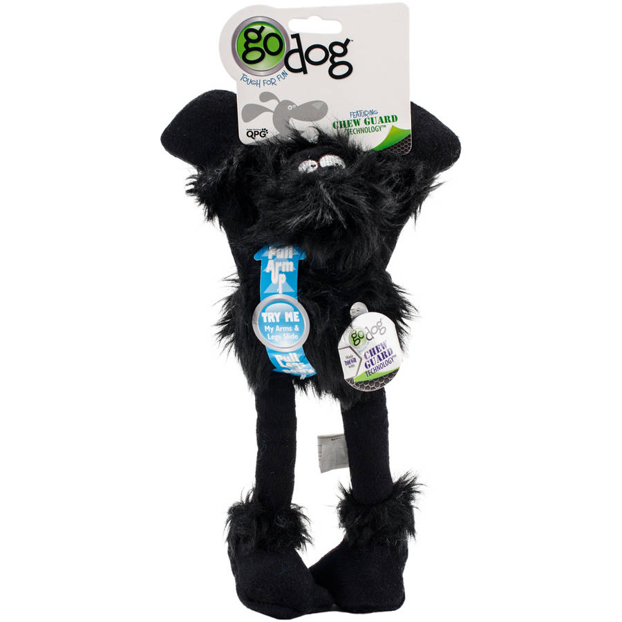 GoDog Crazy Tugs Sasquatches with Chew Guard, Small