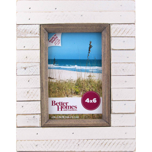 better homes and gardens tengben planks 8x10 brown picture frame walmart com