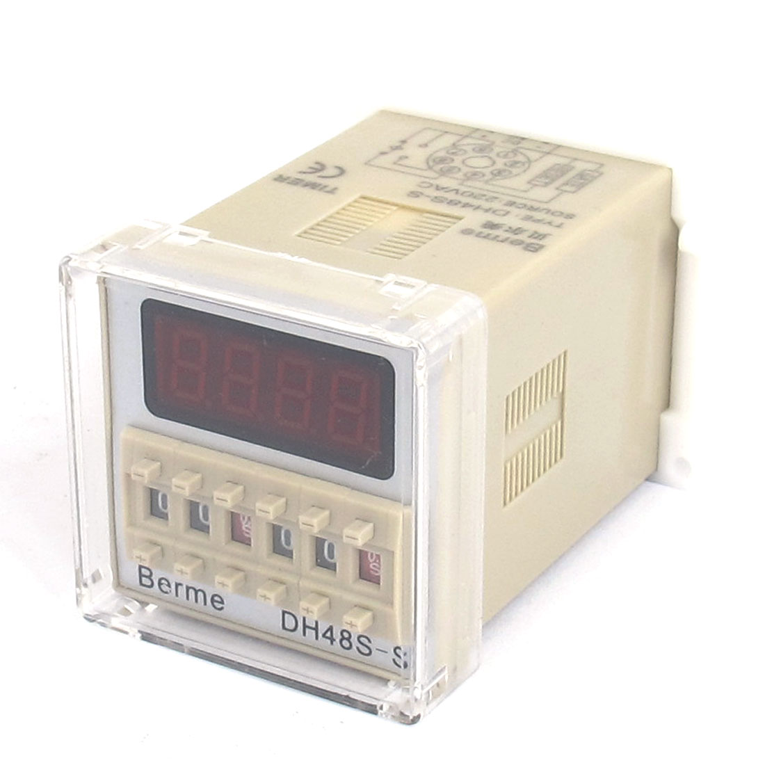 DH48S-S AC 220V 0.1s-99h Programmable Digital Timer Dual Time Delay Relay